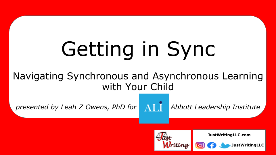 JWLLC Leads Presentation on Synchronous and Asynchronous Learning